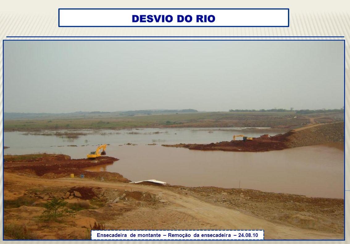 Ensecadeira / Vertedouro - Vista a montante – 24.08.10