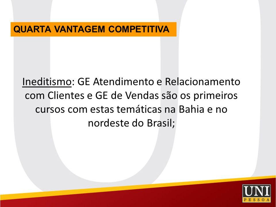 Ineditismo: GE Atendimento e Relacionamento com Clientes e GE de Vendas são os primeiros cursos com estas temáticas na Bahia e no nordeste do Brasil;
