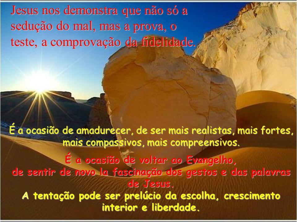 3 O diabo lhe disse então: –Se és o Filho de Deus, diga a esta pedra que se converta em pão.