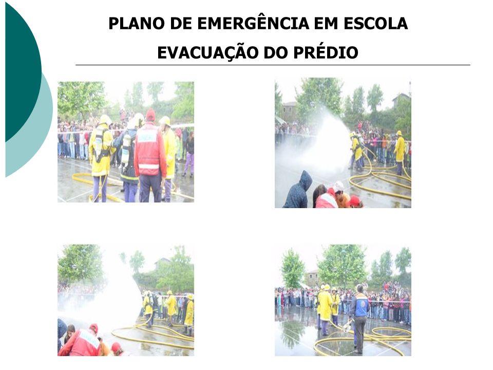 PLANO DE EMERGÊNCIA EM ESCOLA EVACUAÇÃO DO PRÉDIO