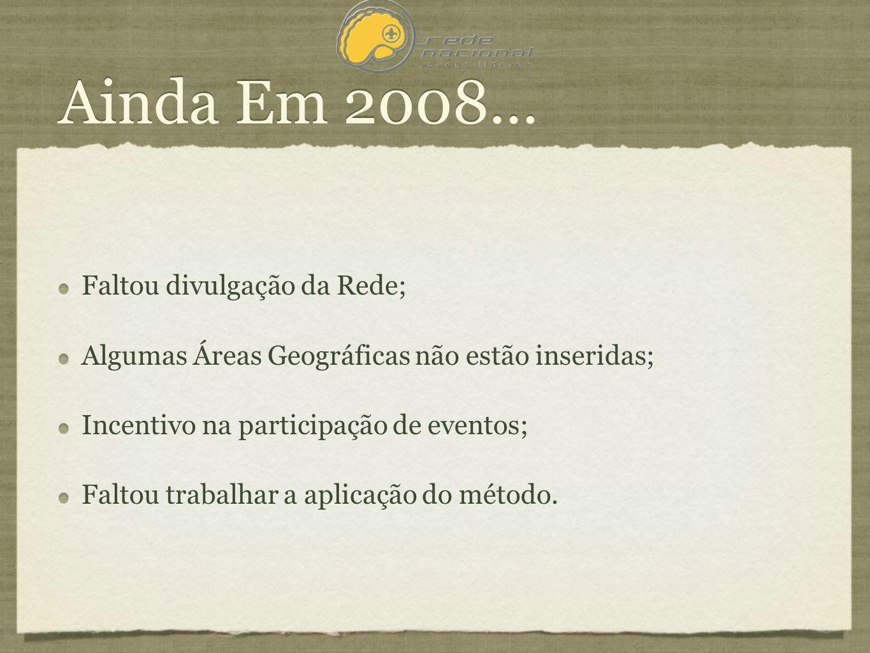 Ainda Em 2008...