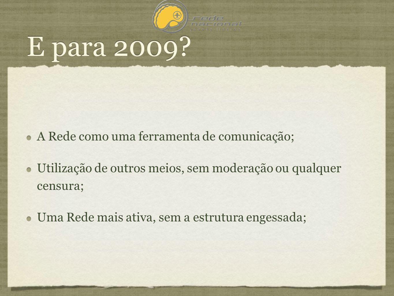 E para 2009.