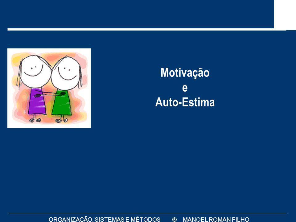 ORGANIZAÇÃO, SISTEMAS E MÉTODOS ® MANOEL ROMAN FILHO Motivação e Auto-Estima