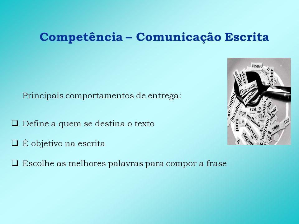 Competência – Comunicação Falada A comunicação falada discutida como capacidade de falar em público A importância e as vantagens de falar bem em público As três grandes causas do medo de falar em público e suas soluções A necessidade de praticar