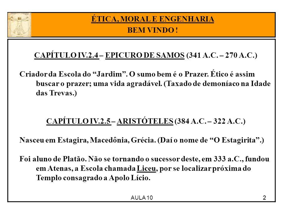 AULA 10 33 FREUD ÉTICA, MORAL E ENGENHARIA BEM VINDO .