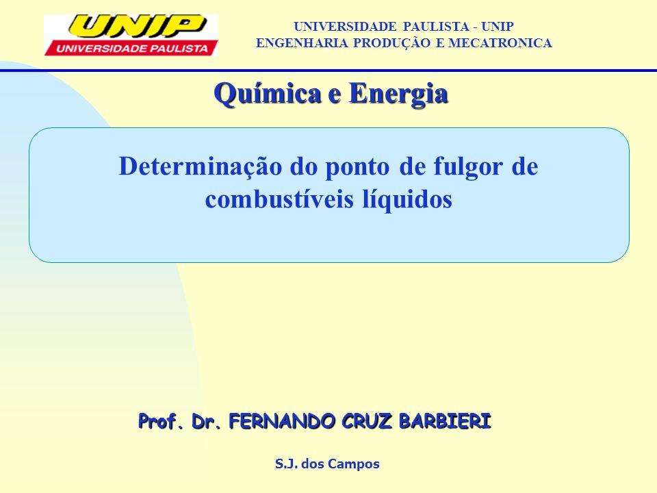 Determinação do ponto de fulgor de combustíveis líquidos S.J.