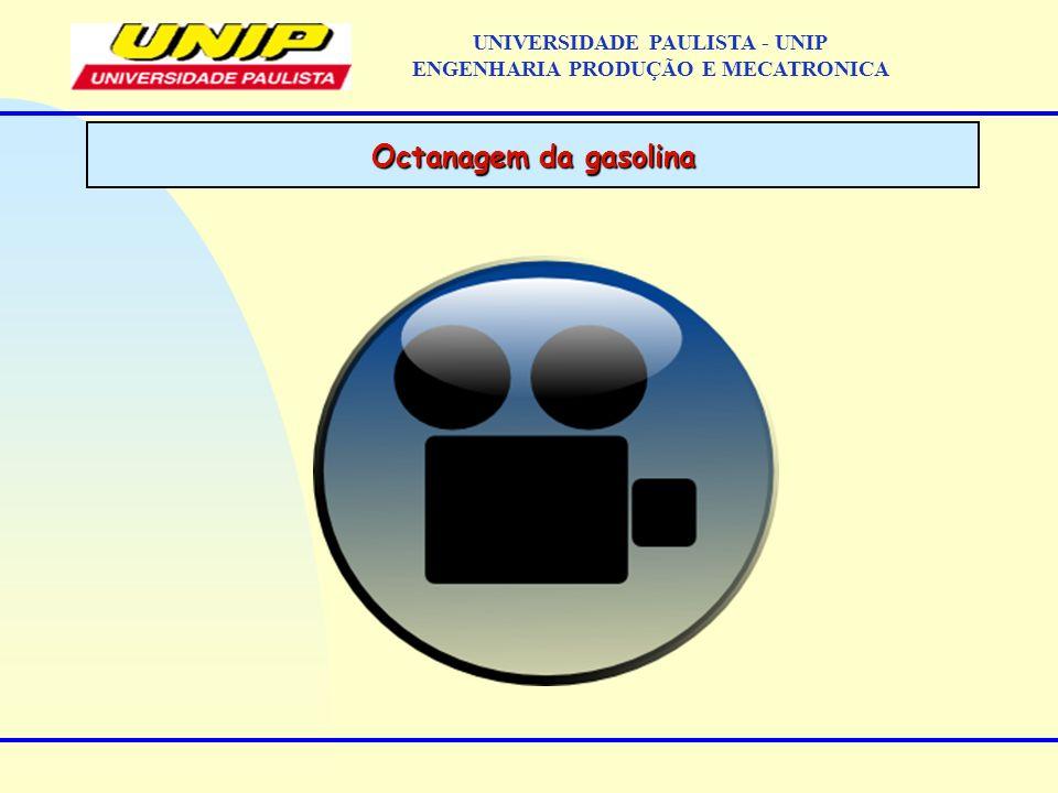 Octanagem da gasolina UNIVERSIDADE PAULISTA - UNIP ENGENHARIA PRODUÇÃO E MECATRONICA