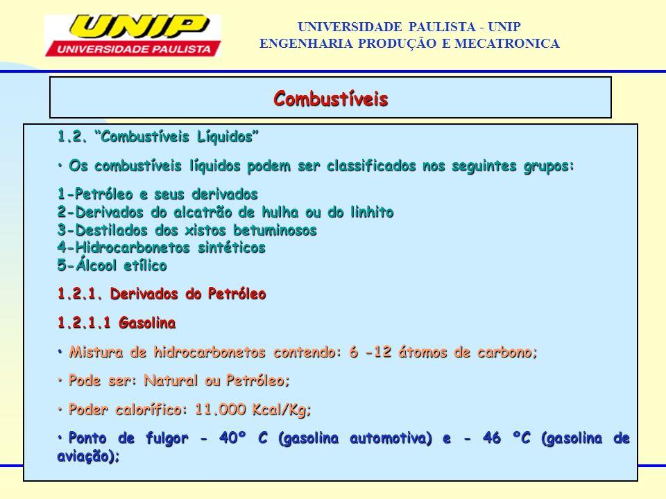 1.2. Combustíveis Líquidos Os combustíveis líquidos podem ser classificados nos seguintes grupos: Os combustíveis líquidos podem ser classificados nos
