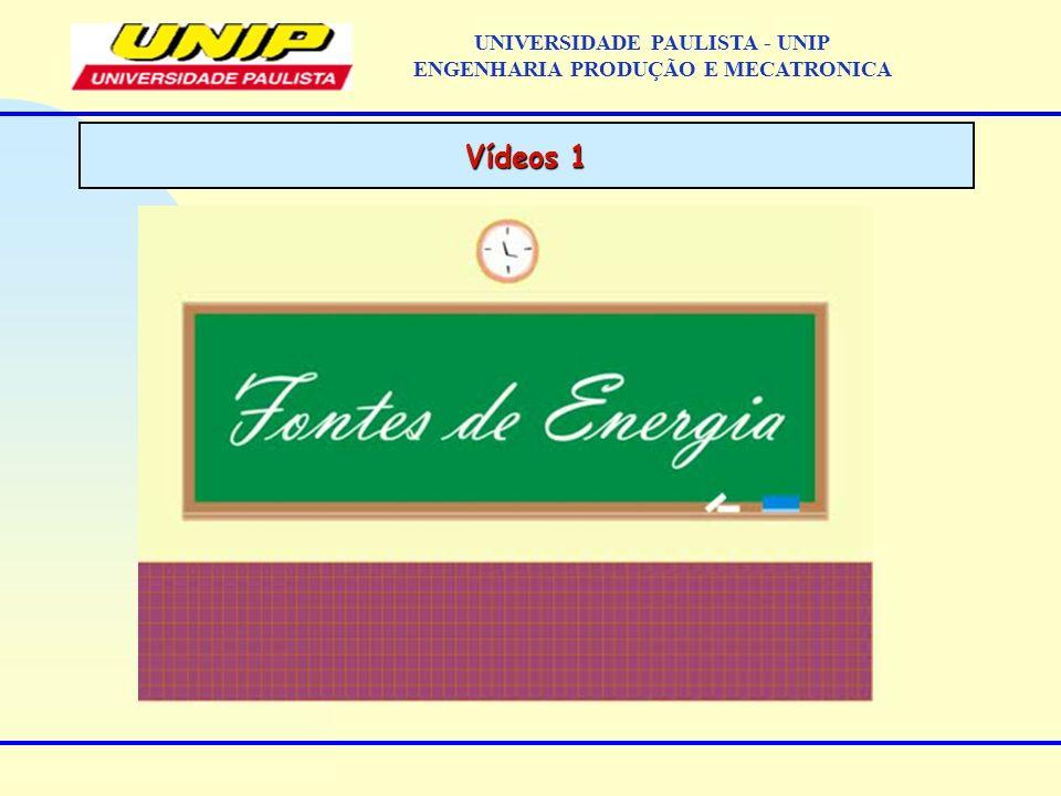 Vídeos 1 UNIVERSIDADE PAULISTA - UNIP ENGENHARIA PRODUÇÃO E MECATRONICA