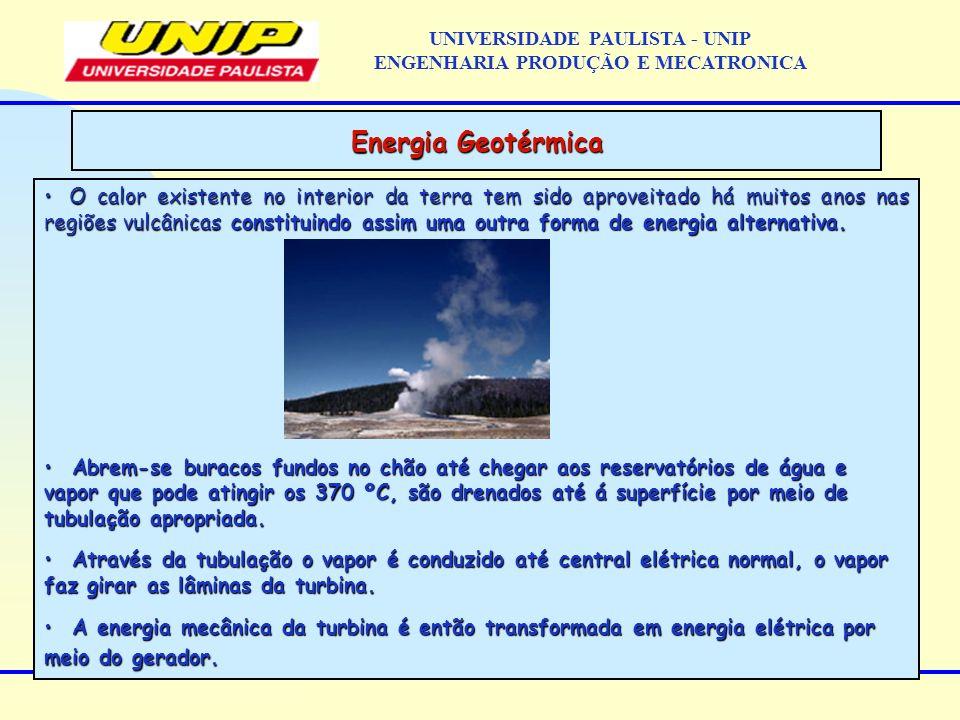 O calor existente no interior da terra tem sido aproveitado há muitos anos nas regiões vulcânicas constituindo assim uma outra forma de energia altern