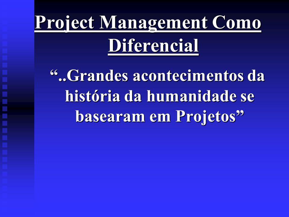 Project Management Como Diferencial..Grandes acontecimentos da história da humanidade se basearam em Projetos..Grandes acontecimentos da história da h