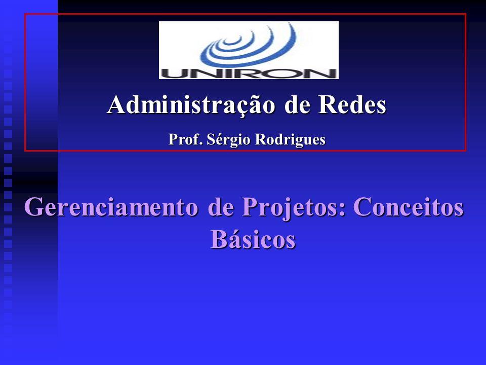 Gerenciamento de Projetos: Conceitos Básicos Administração de Redes Prof. Sérgio Rodrigues