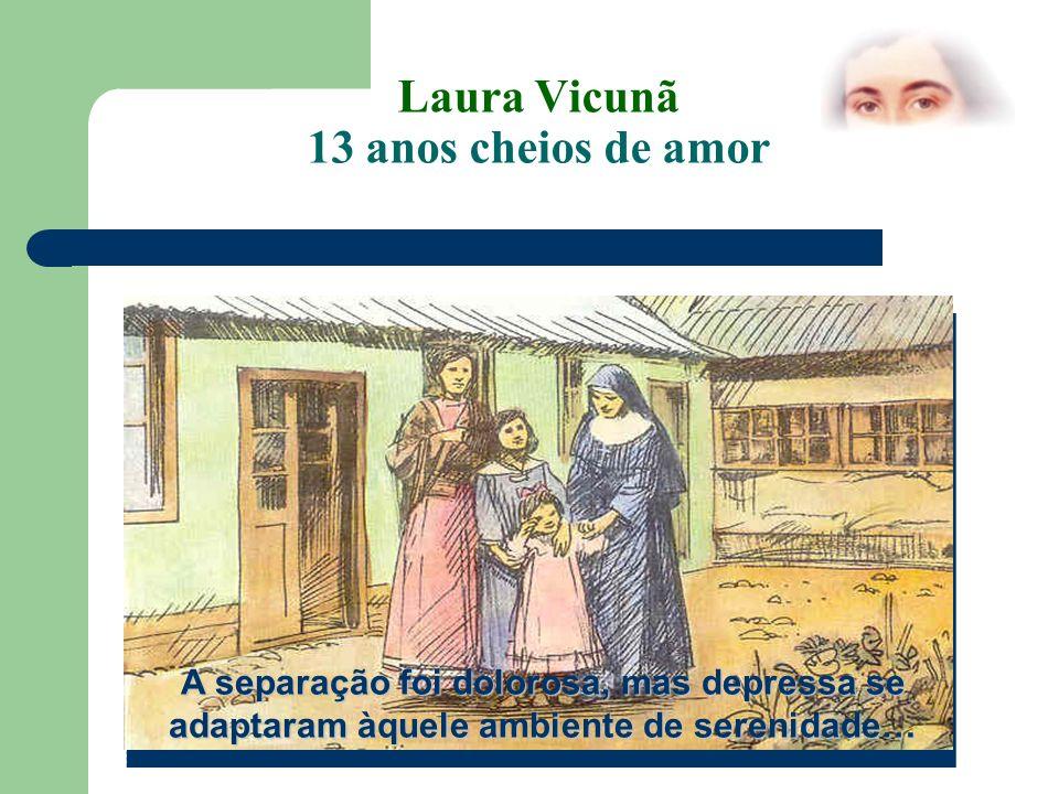Laura Vicuña 13 anos cheios de amor Laura, a pequena flor dos Andes, continua a ser modelo para muitos adolescentes.