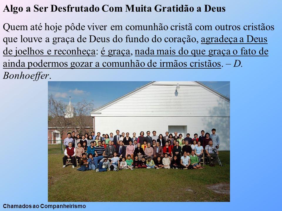Algo a Ser Desfrutado Com Muita Gratidão a Deus Quem até hoje pôde viver em comunhão cristã com outros cristãos que louve a graça de Deus do fundo do