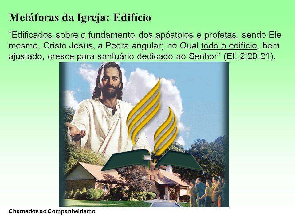 Metáforas da Igreja: Edifício Edificados sobre o fundamento dos apóstolos e profetas, sendo Ele mesmo, Cristo Jesus, a Pedra angular; no Qual todo o e