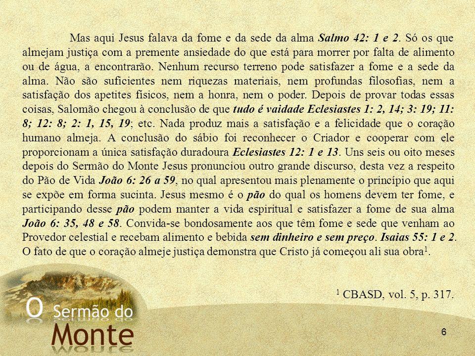 47 2 - Minha alma tem sede de Deus, do Deus vivo; quando voltarei a ver a face de Deus.
