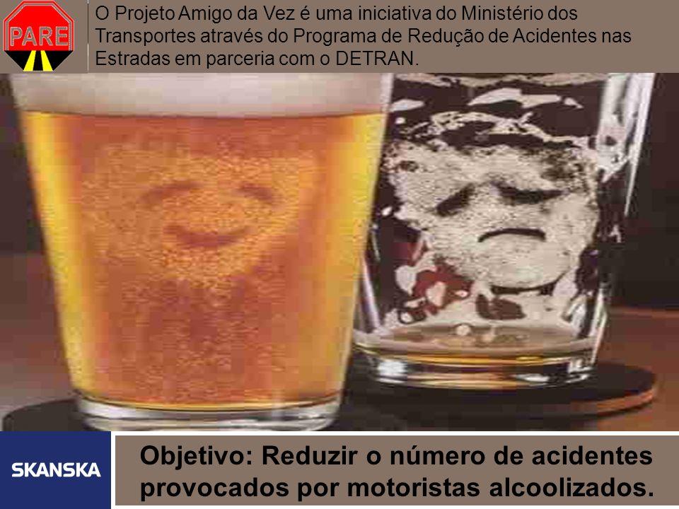 3 Skanska Brasil Ltda 3 A REALIDADE Acidentes de trânsito são a maior causa de morte entre jovens A média de idade dos que morrem em ferragens de veículos é de 30 anos; A maioria dos acidentes acontece nas madrugadas de sexta para sábado e de sábado para domingo; Dirigir alcoolizado é infração gravíssima.