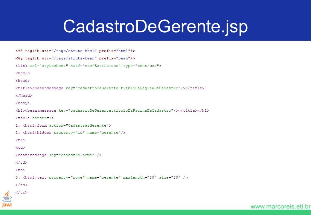 CadastroDeGerente.jsp 1. 2. 3.