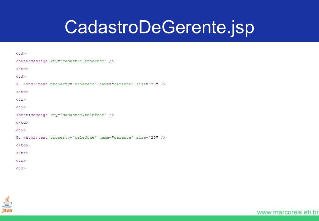 CadastroDeGerente.jsp 4. 5.