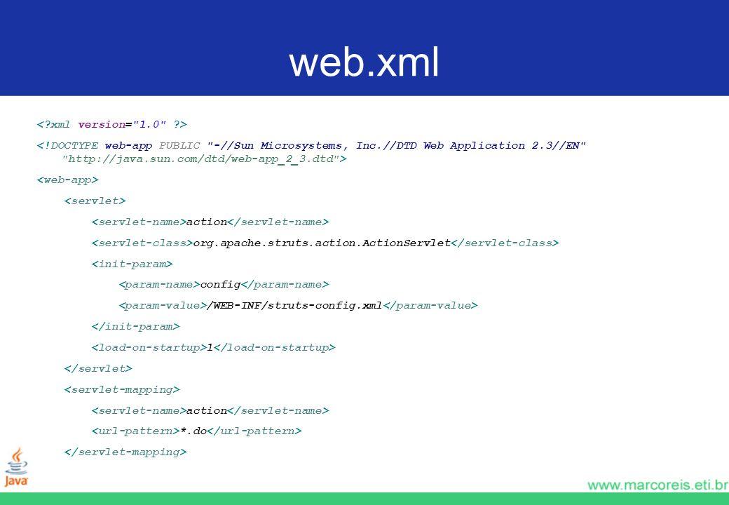 web.xml action org.apache.struts.action.ActionServlet config /WEB-INF/struts-config.xml 1 action *.do