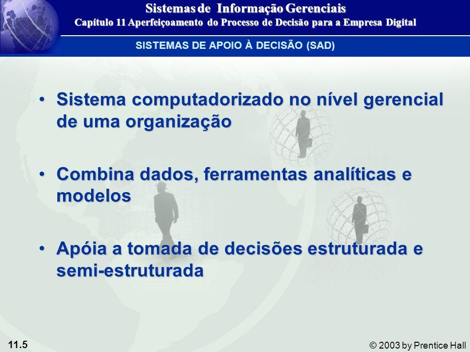 11.5 © 2003 by Prentice Hall Sistema computadorizado no nível gerencial de uma organizaçãoSistema computadorizado no nível gerencial de uma organizaçã