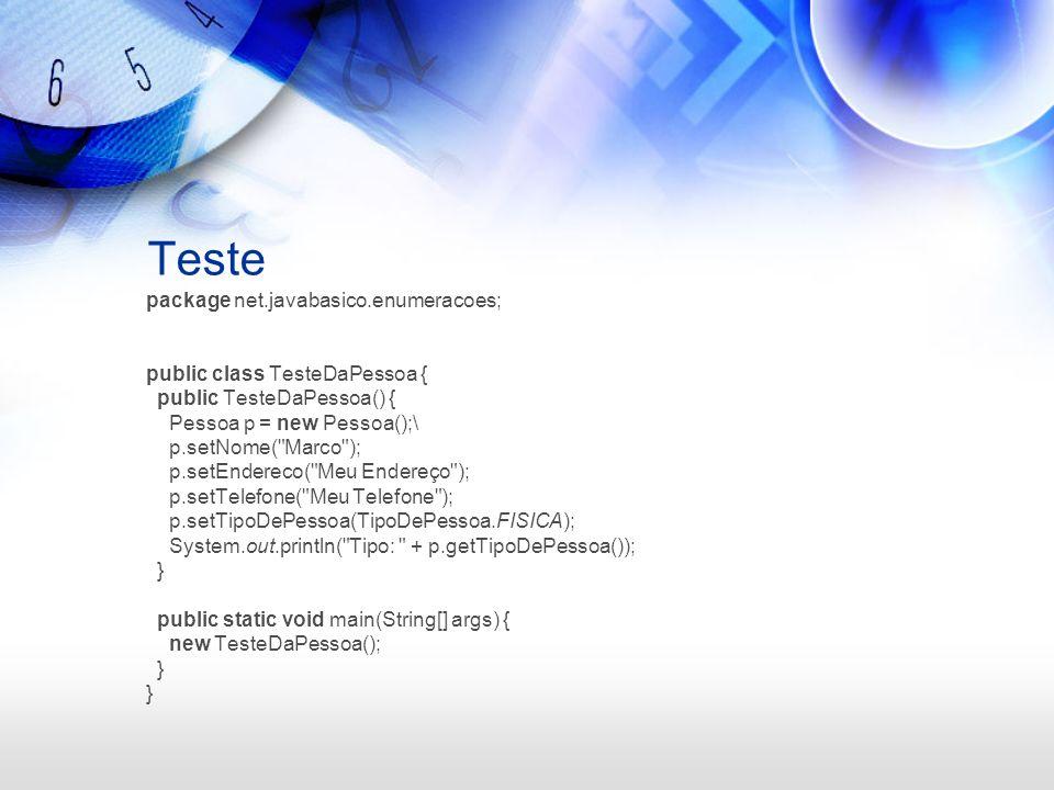 Nova versão do tipo Podemos informar valores personalizados para as opções de um enum.