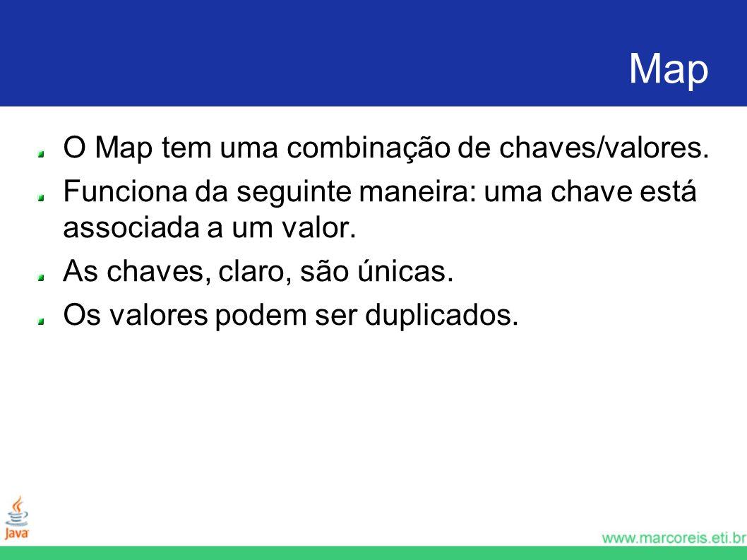 Map O Map tem uma combinação de chaves/valores.