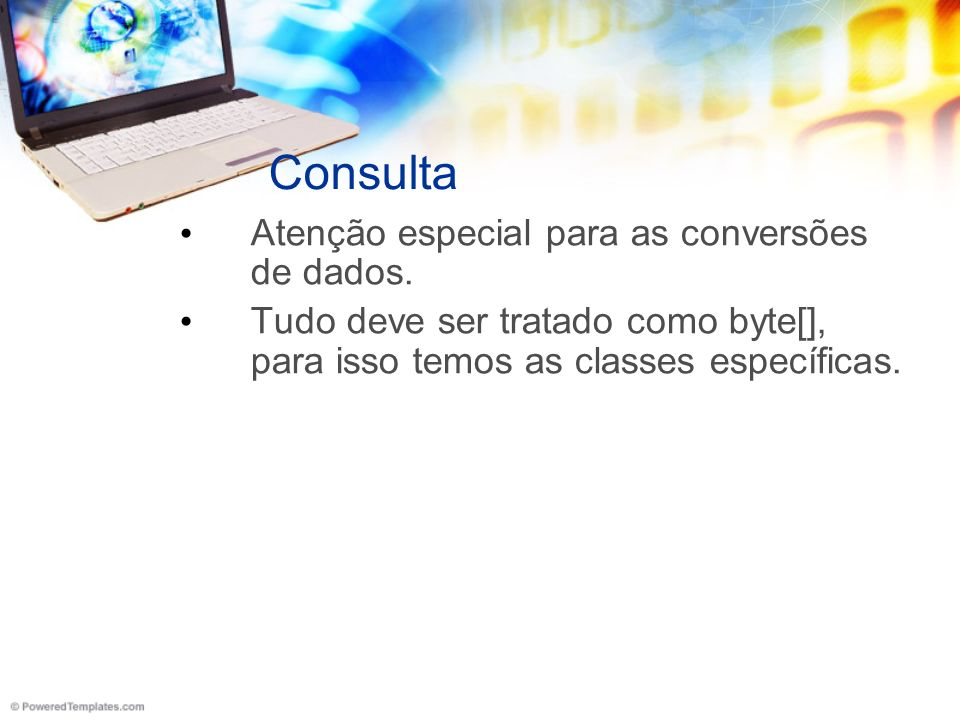 Consulta Atenção especial para as conversões de dados.