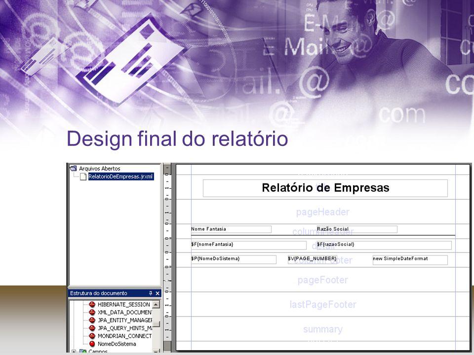 Design final do relatório