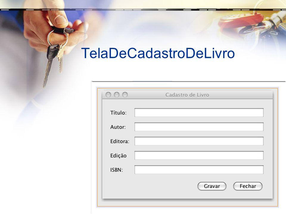 TelaDeCadastroDeLivro