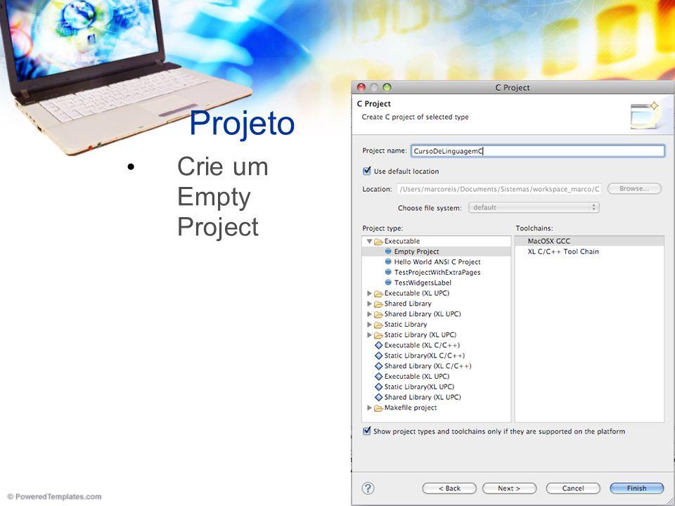 Source Folder Adicione um diretório para o código fonte.