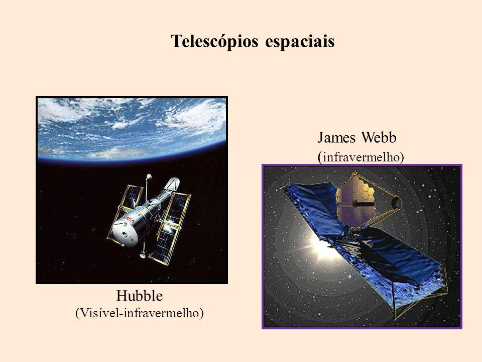 Hubble (Visível-infravermelho) James Webb ( infravermelho) Telescópios espaciais
