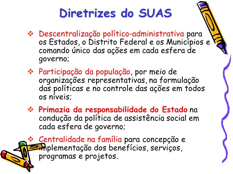 Descentralização político-administrativa para os Estados, o Distrito Federal e os Municípios e comando único das ações em cada esfera de governo; Part