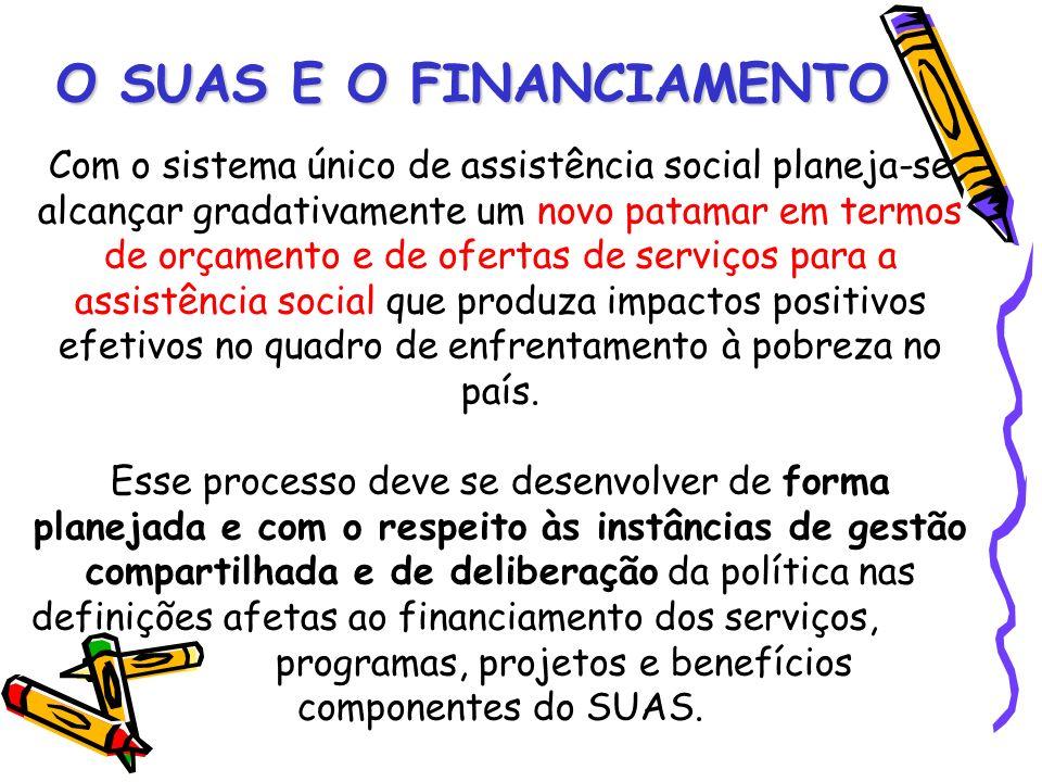 Com o sistema único de assistência social planeja-se alcançar gradativamente um novo patamar em termos de orçamento e de ofertas de serviços para a as