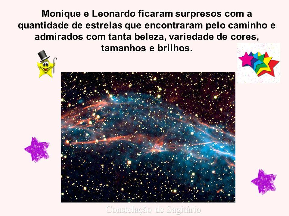 Monique e Leonardo ficaram surpresos com a quantidade de estrelas que encontraram pelo caminho e admirados com tanta beleza, variedade de cores, taman