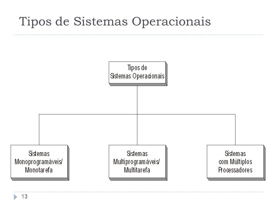 Tipos de Sistemas Operacionais 13