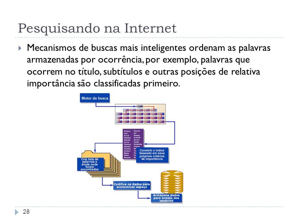 Serviços Newsgroups FTP Telnet E-mail 29