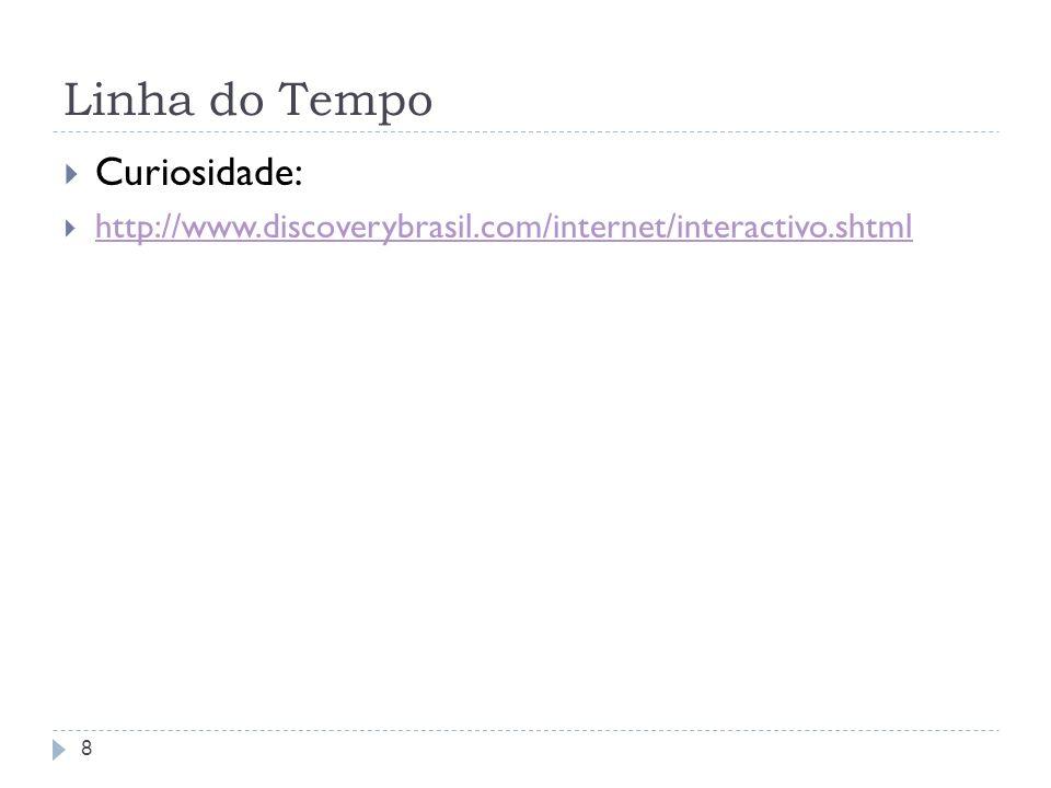 Linha do Tempo Curiosidade: http://www.discoverybrasil.com/internet/interactivo.shtml 8