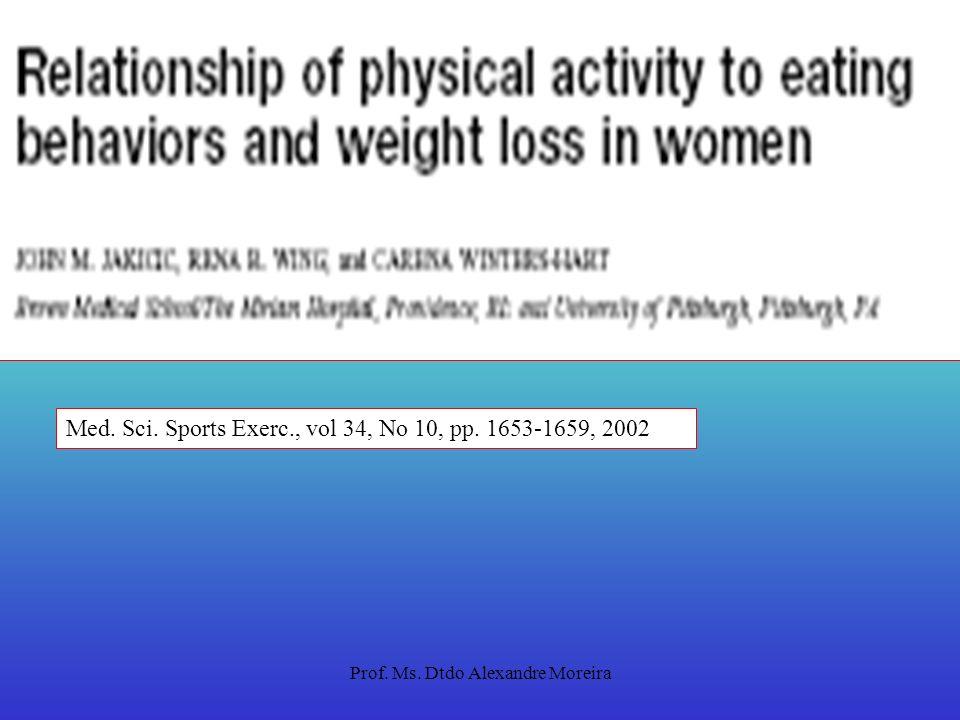 Prof. Ms. Dtdo Alexandre Moreira Estilo de vida ativo (EVA) Quando combinado com dieta, EVA resulta em perda de peso comparada à programas de exercíci