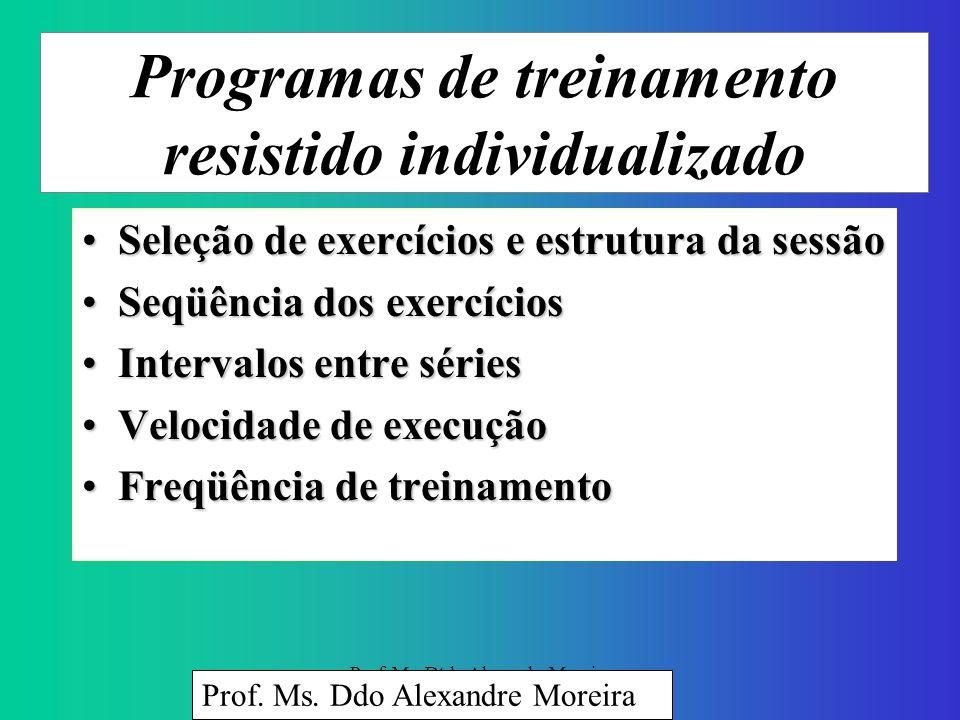 Prof. Ms. Dtdo Alexandre Moreira Exercícios resistidos e progressão Força muscular: Fundamental para a saúde, funcionalidade e melhoria da qualidade d