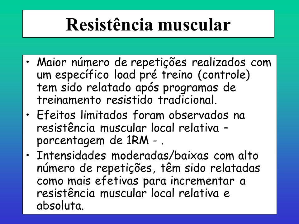 Hipertrofia - fatores Fta > do que FTb. Aumento do volume muscular tem sido associado à diminuição do catabolismo protéico e incremento da síntese pro