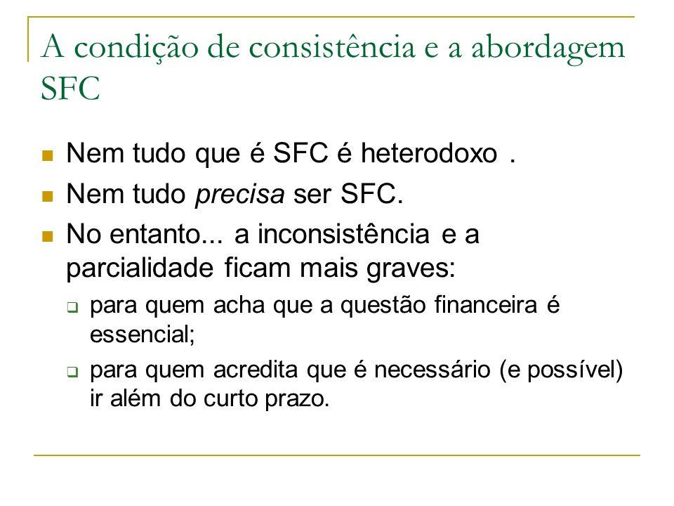 A condição de consistência e a abordagem SFC Nem tudo que é SFC é heterodoxo.