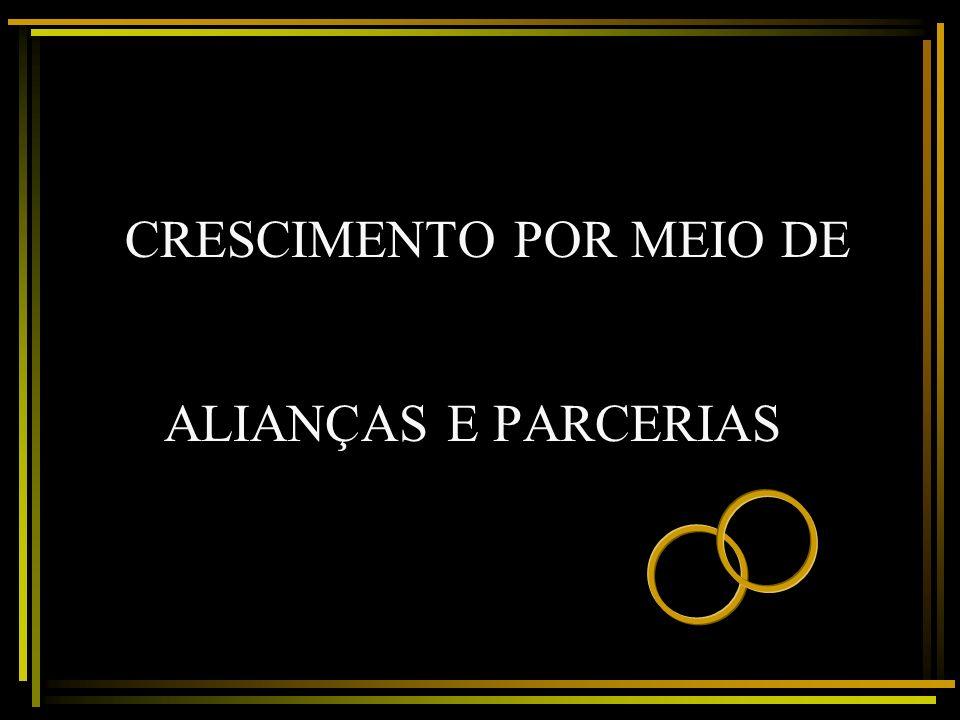 CRESCIMENTO POR MEIO DE ALIANÇAS E PARCERIAS