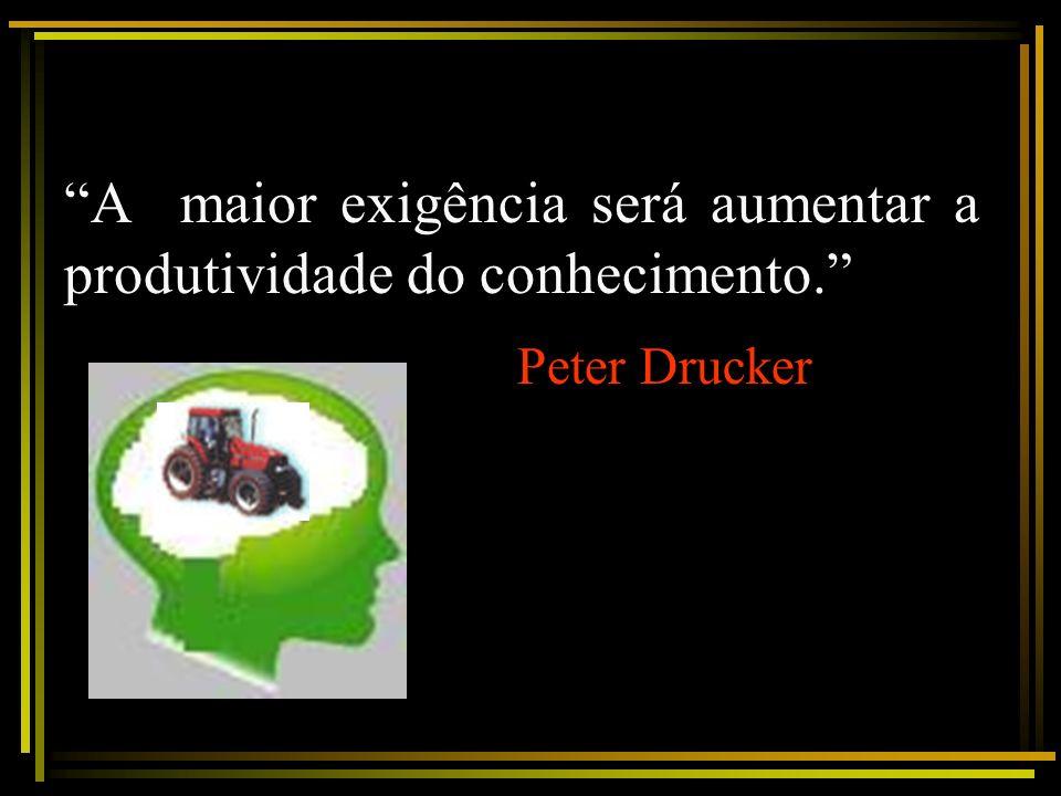 A maior exigência será aumentar a produtividade do conhecimento. Peter Drucker