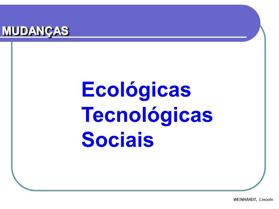 Ecológicas Tecnológicas Sociais MUDANÇASMUDANÇAS WEINHARDT, Lincoln