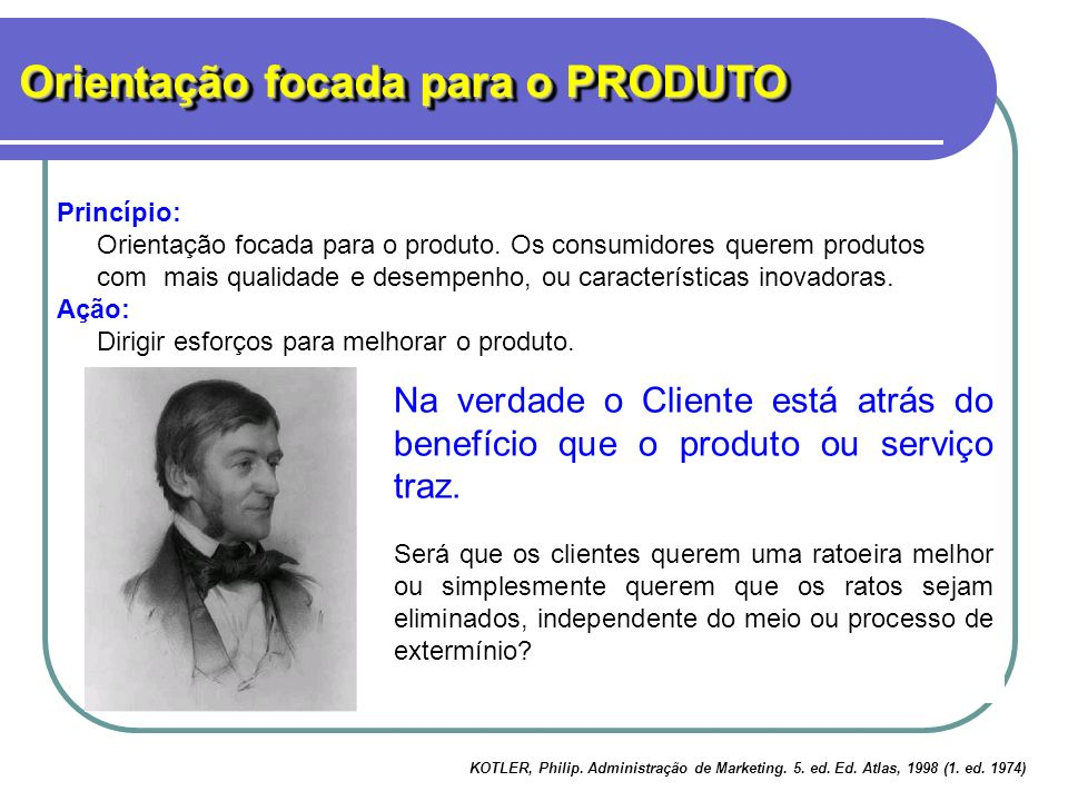 Adágio de Emerson: se um homem inventar a melhor ratoeira o mundo cairá aos seus pés. Build a better mousetrap and the world will beat a path to your