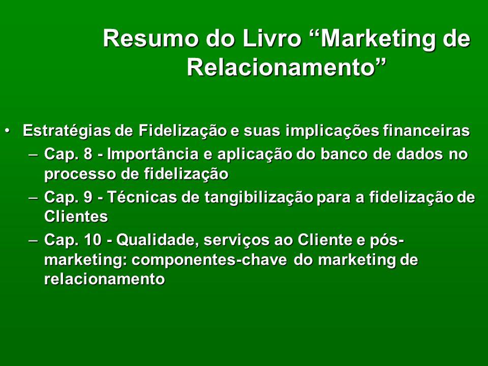 Resumo do Livro Marketing de Relacionamento Autor: Itzhak Meir BogmannAutor: Itzhak Meir Bogmann Estratégias de Fidelização e suas implicações finance