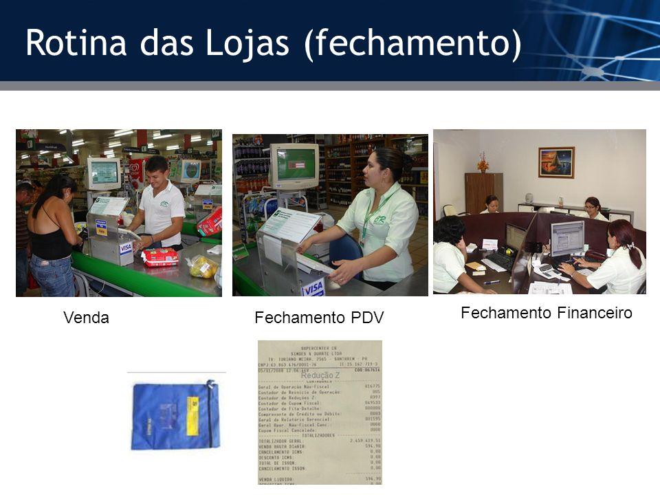 Rotina das Lojas (fechamento) Venda Fechamento PDVFechamento Financeiro