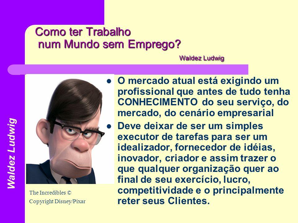 Como ter Trabalho num Mundo sem Emprego? Waldez Ludwig O mercado atual está exigindo um profissional que antes de tudo tenha CONHECIMENTO do seu servi