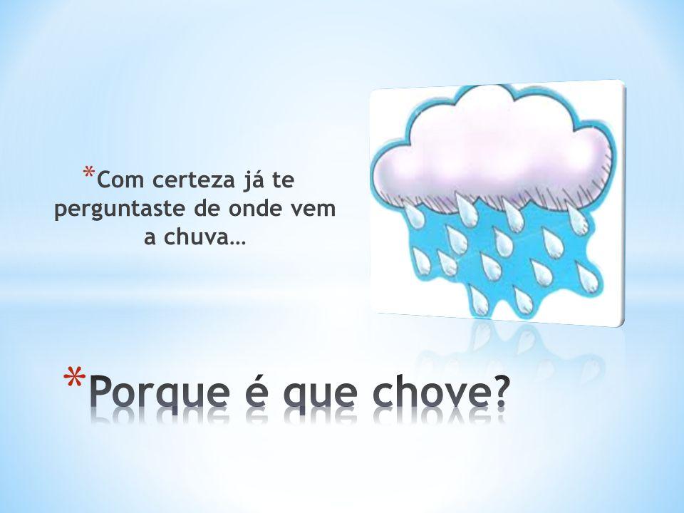 * Com certeza já te perguntaste de onde vem a chuva…